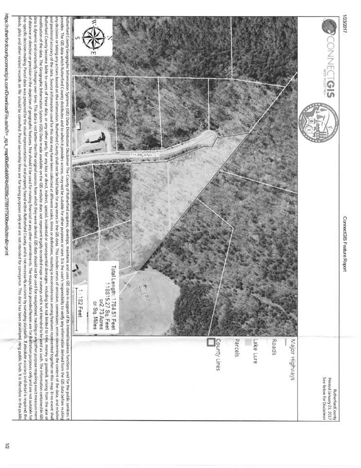 lot 1-2B HIghlands Dr, Spindale, NC 28160