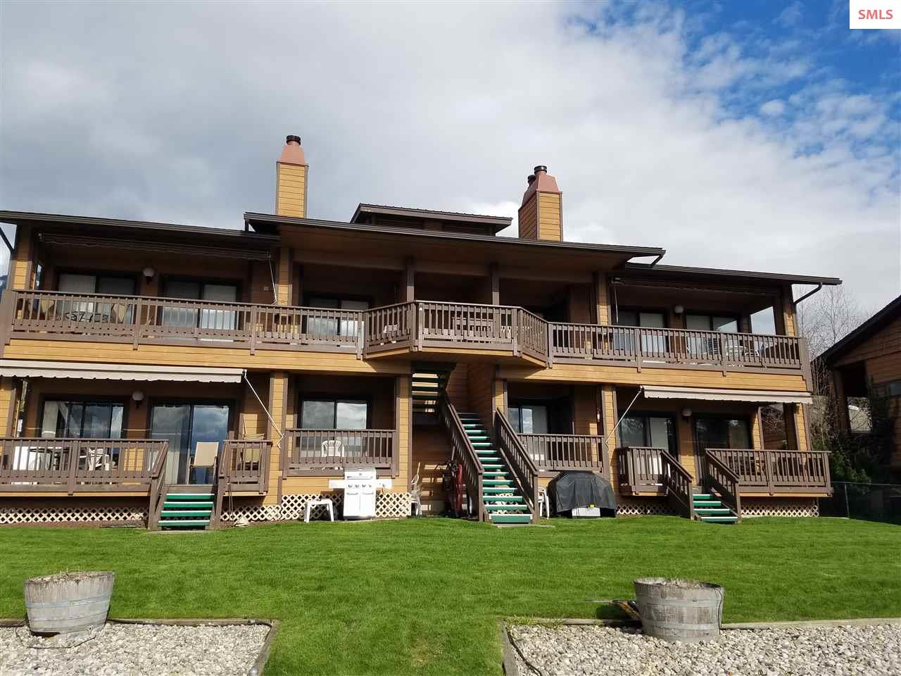Great view waterfront and view condo in Hope.  Units are spacious and well laid out.  All furniture comes with the condo.  Each unit has a deck that is accessed from the living room and the master bedroom.  Dock out front.