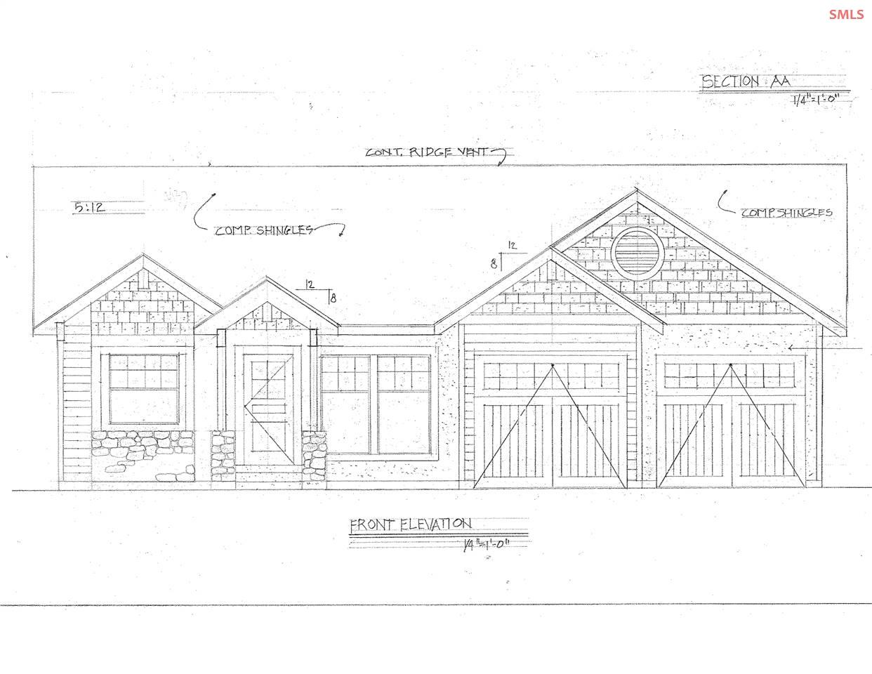 You will be delighted with this luxury 4-bedroom, 3-bath, new daylight home to be built for you at Cedars at Sandcreek.  Quality construction and northwest finishes include wood floors, custom  cabinets, granite or quartz counters, wood doors and trim.  All this in a prime location of upscale homes near Schweitzer Resort, trails, stores and services. No need to compromise, you've found it!  Photos are of similar home recently completed, with fireplace upgrade.  Please call for complete specifications.
