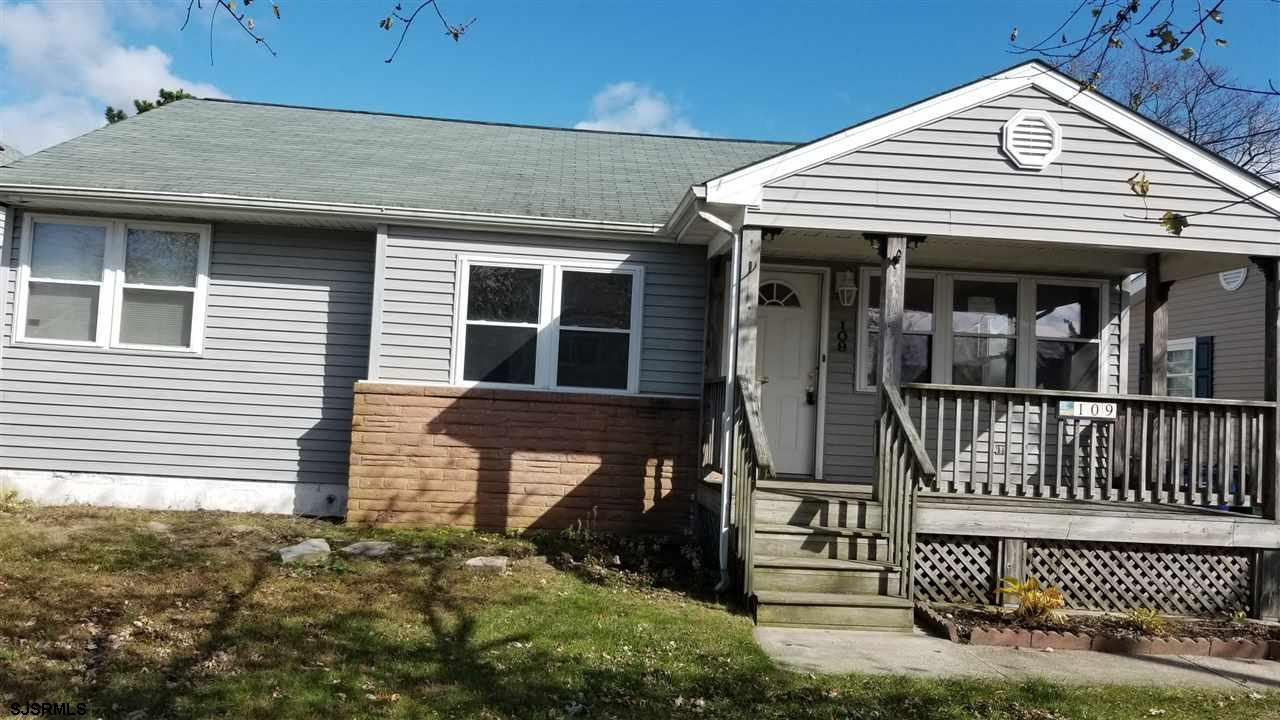 """This 3 bedroom, 1 bath ranch located in the heart of Brigantine and just minutes from beaches is a """""""