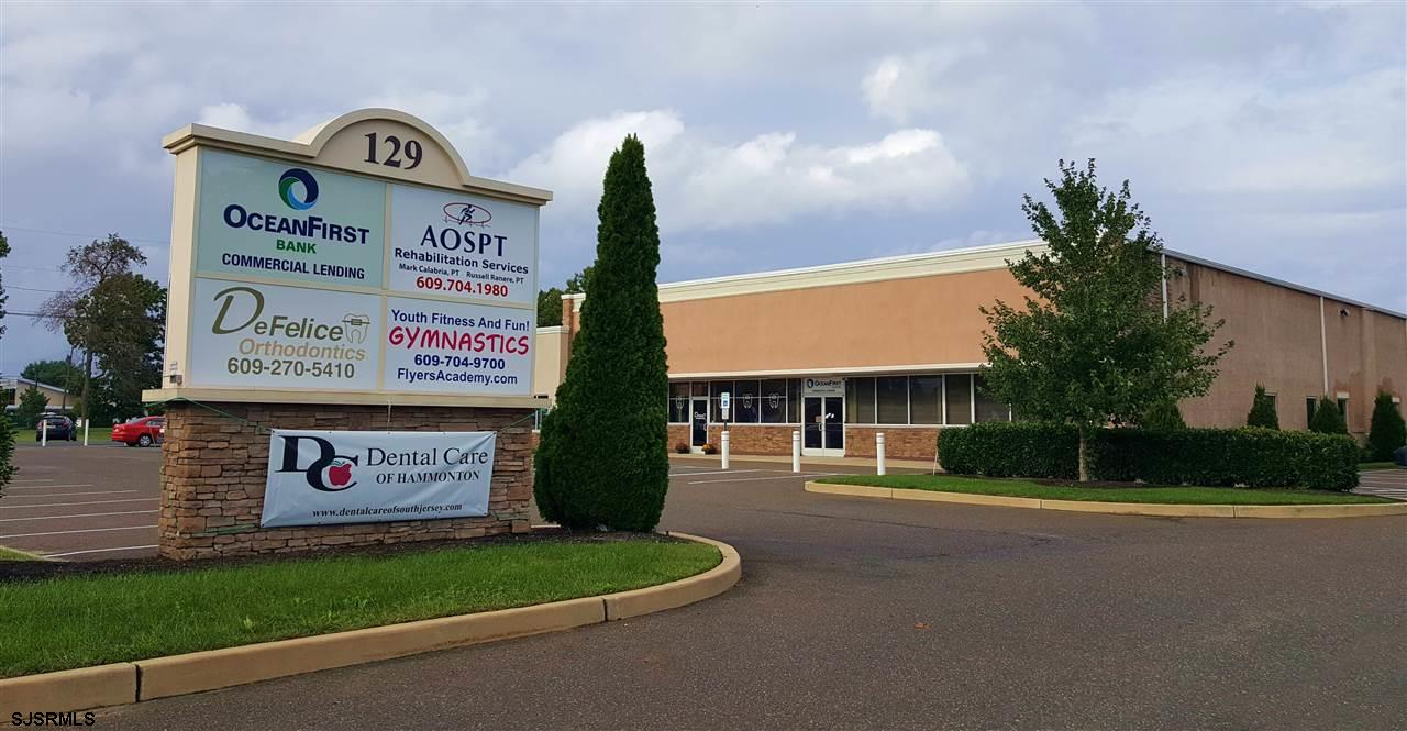 5,385+- Sqft For Lease at $15.95/sf NNN (approx $4.85 Common Expenses + utils). Very nice, corporate-style office space, corner of building with lots of windows and great exposure. Former OceanFirst (Cape Bank) Commercial Lending office. Excellent monument signage on a major highway. Ample onsite parking.  Ideal for many professional or medical uses. Furnishings are for illustrative purposes and not included.
