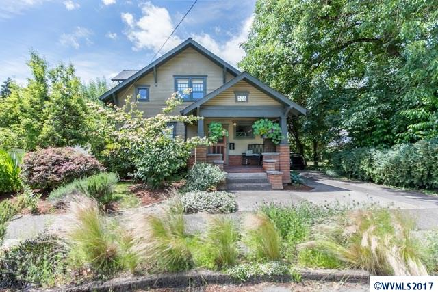 Accepted Offer with Contingencies. Downtown gem, Craftsman style home on quiet cul-de-sac near the heart of Corvallis. Love every detail from the comfortable front porch, to the vintage woodwork & wood floors, to modern & open kitchen w/ soapstone counters & copper top storage rack, many updates. Kick back & relax in the added (& artfully blended) family room. Terrace w/ pergola leads to outdoor living, large yard w/ garden space. Extra deep garage.