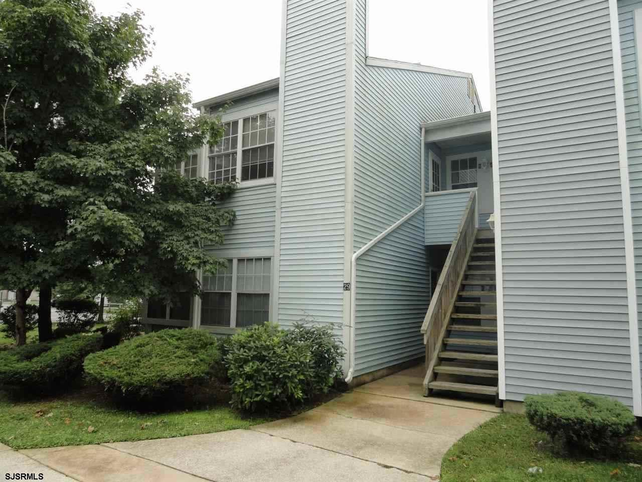 Beautiful 2nd fl condo with cathedral ceilings. If you like natural sunlight then this is the home for you. Home features Newer gas heat. central air. Bedroom w/walk in closet. Kitchen with room for a table. This unit is larger than most.  Washer and dryer included in the home.  This is an End unit. Conveniently located across from the Smithville Village. Close to shopping and transportation,min to casinos and beaches. Perfect for a vacation get away. Enjoy all the Smithville amenities, Gym,pools,clubhouse,tennis, walking/bike paths Like a vacation  everyday. NTN credit check  and security deposit required.