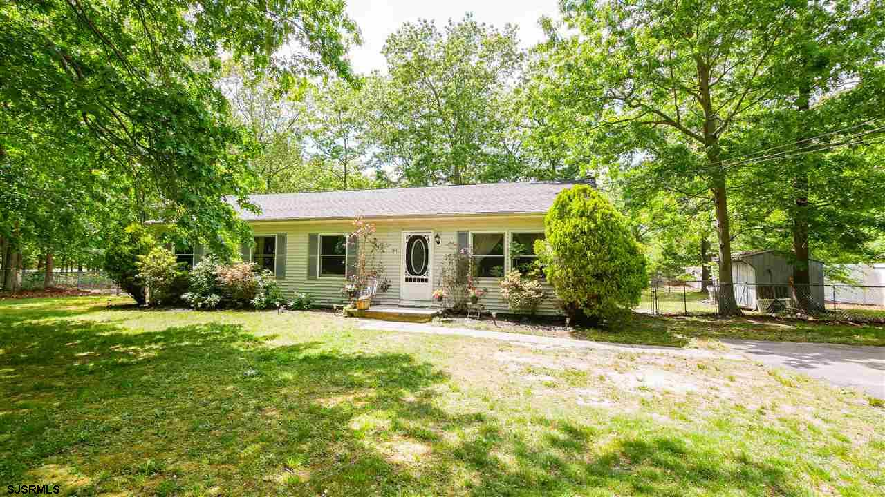 Adorable 4 Bed/1 Bath ranch offers living room, dining room, kitchen and large enclosed porch with c