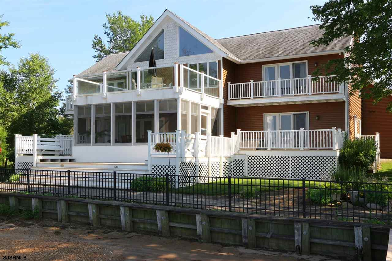 LIVE WHERE YOU LOVE, Waterfront Luxury Home, double lot, 200' Mullica River frontage, 80' deepwater
