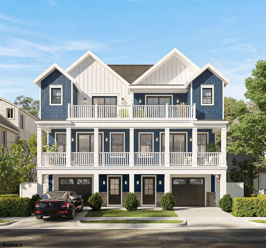 NEW CONSTRUCTION IN VENTNOR! This new townhome is only 3 1/2 blocks from the beach and boardwalk.  3