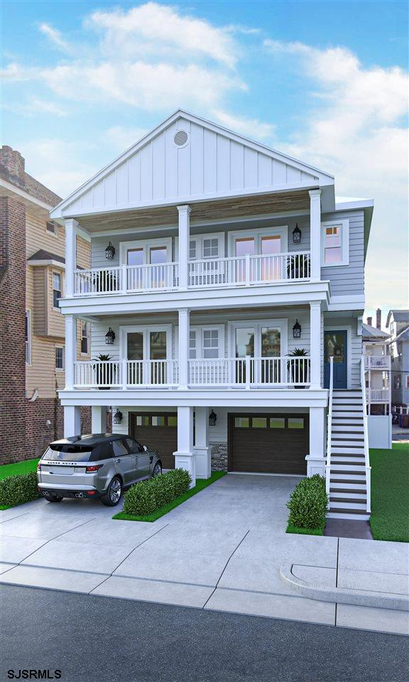Luxury south side new construction located in Ventnor just one block to the beach and boardwalk. Tho