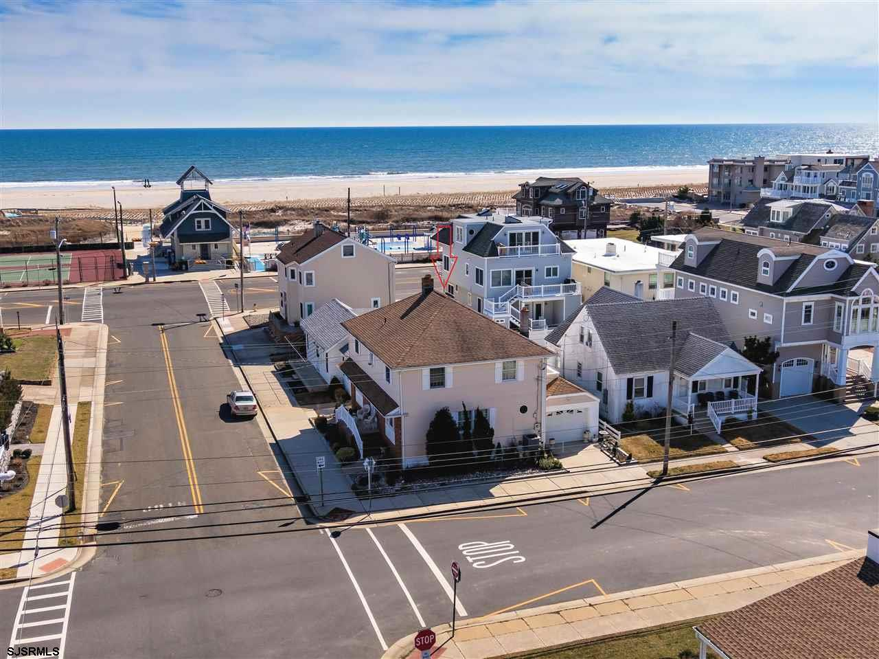 SOUTHSIDE LONGPORT WITH OCEAN VIEWS!!! FABULOUS CORNER PROPERTY RIGHT ACROSS FROM THE BEST BEACH!! T