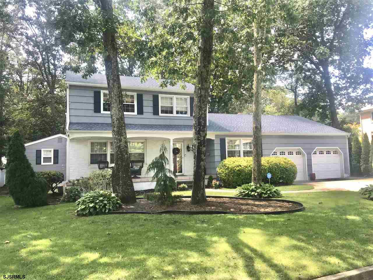 Large upgraded, updated, and customized family Colonial in one of Linwood's most desired neighborhood locations. Four large bedrooms on 2nd floor, plus first floor MBR suite. Kitchen, baths, flooring, stately wood den/library, and brand new gas ht/CA. All add value and class to this newly listed gem. From first impression of the location, lot, and exterior attraction...you'll be drawn inside to enjoy the above mentioned details. Oversized 2-car garage, huge sunny rear deck, screen porch, and the versatile island style kitchen add value and appeal.