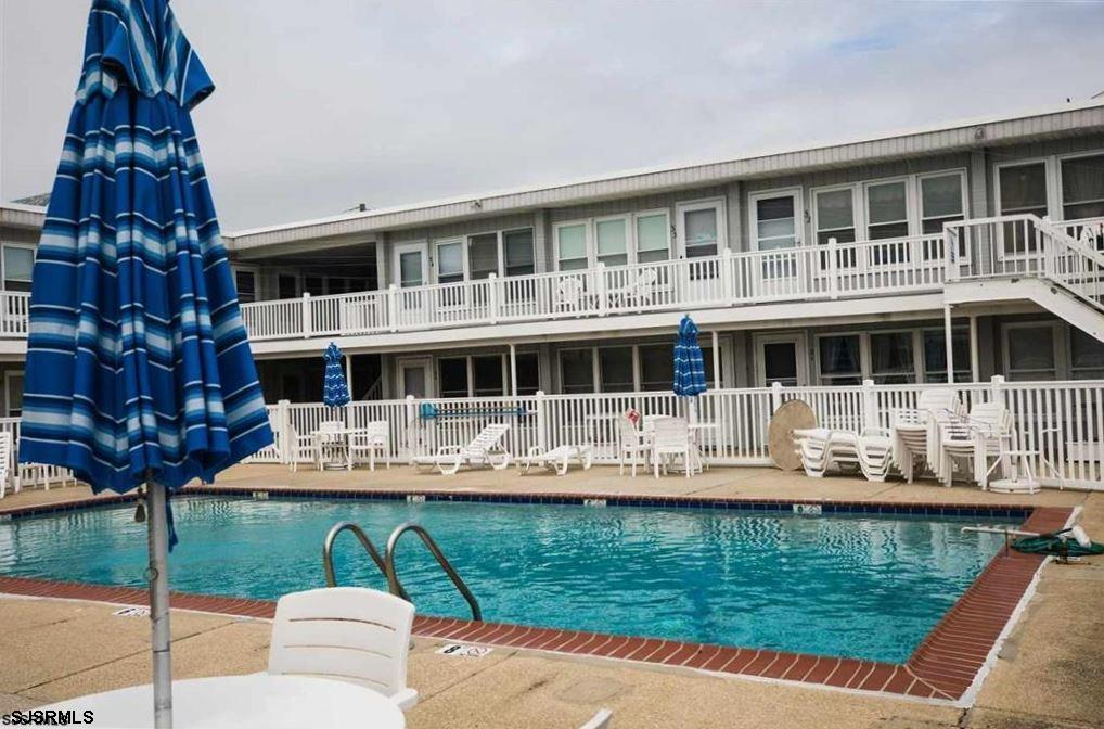 Top Floor End Unit at the Carousel with Ocean and Pool views directly across from the Beach.  Perfec