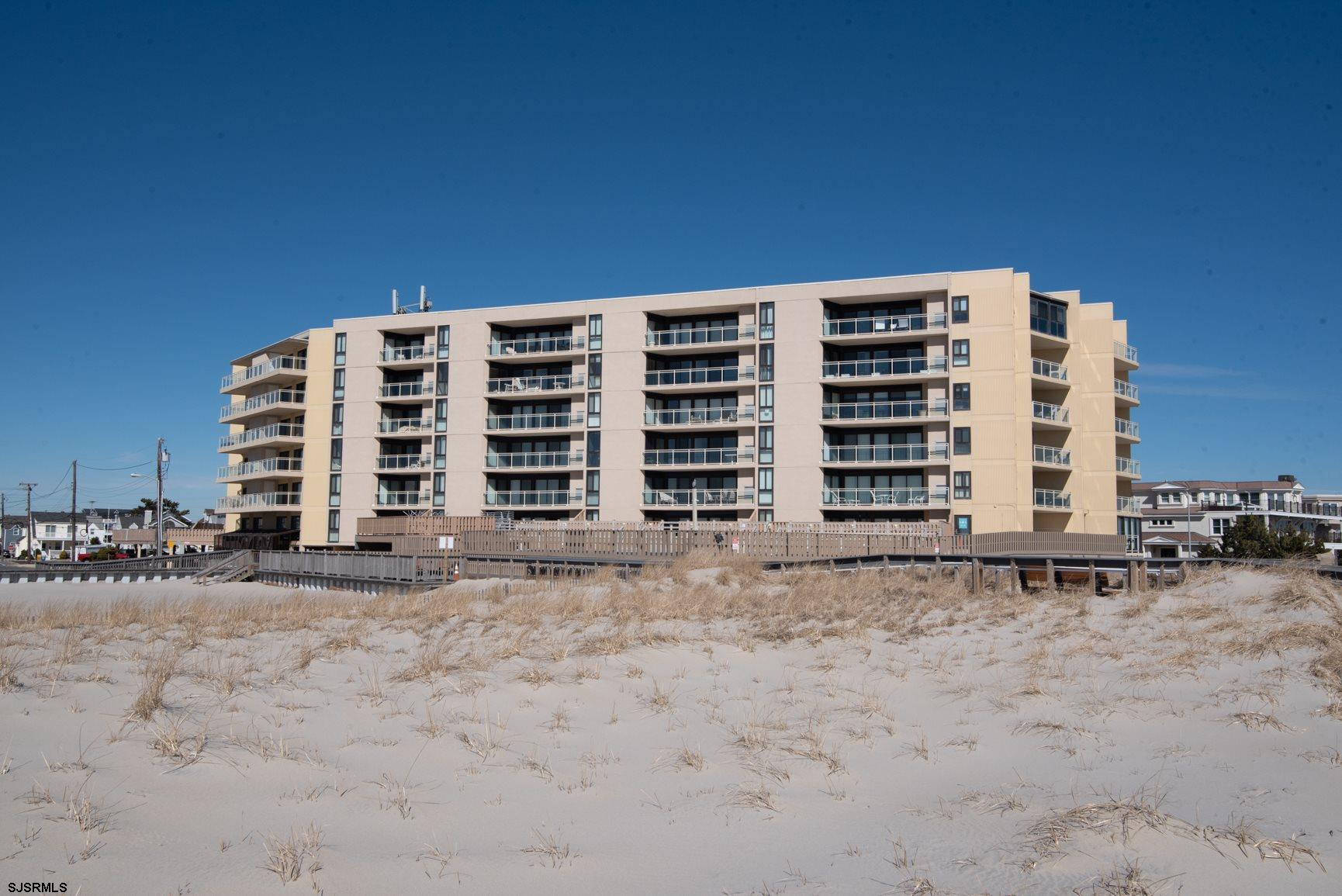 The only one bedroom condo available at Longport's premier condo building - Ocean Plaza.  A rare fin