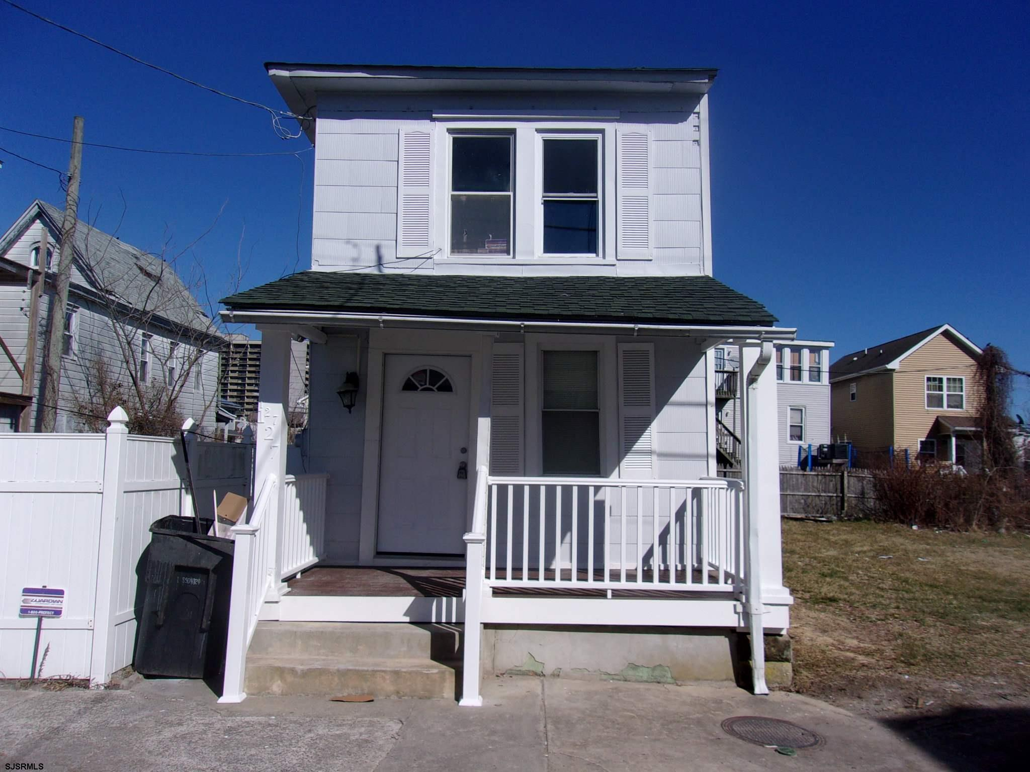 Renovated 3 bed 1.5 bath 2 story on a double lot which allows off street parking. Perfect for Air B