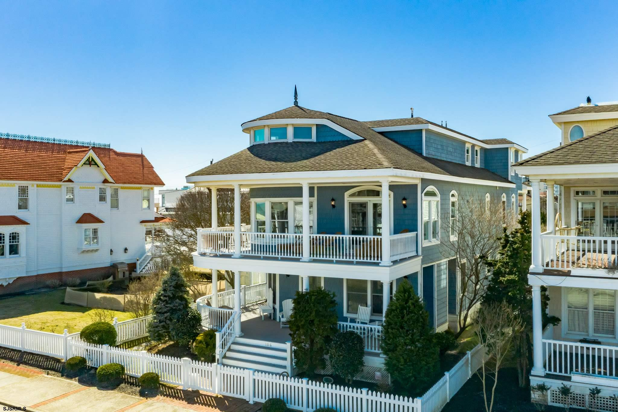 Classic Longport beach block home overlooking a Victorian Garden….. only 3 houses to the ocean…  Ope
