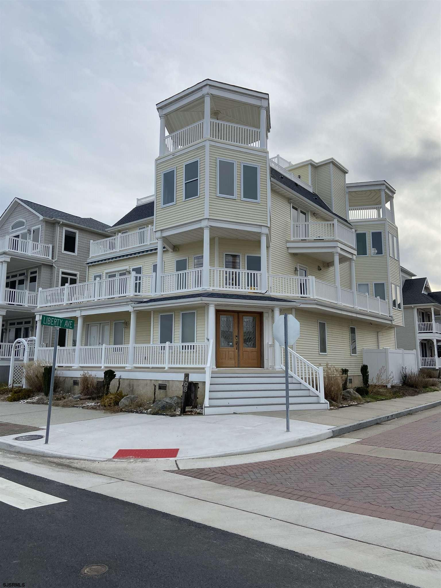 SPECTACULAR BEACH FRONT, CORNER PROPERTY!! This Architectural Gem Is Located In The Historic Gardner's Basin Area. This Dream Home Comes With Four Stories Of Breathtaking Panoramic Views Of The Ocean, Fishing Pier, Marina, Parks, Casinos, Boardwalk And Brigantine Island. This Contemporary Home Artfully Balances Elegance W/Comfort And Charm W/Seven Decks Designed For Shore Living And Entertaining. From the moment you enter the home you will be impressed by the huge open foyer. The 1st floor has 3BD's and a huge full bath. The main living space consists of an open concept living room & dining room, both with spectacular views of the beach. They both overlook the beautiful EIK which has SS appliances,42 inch cabinets and granite counters. perf