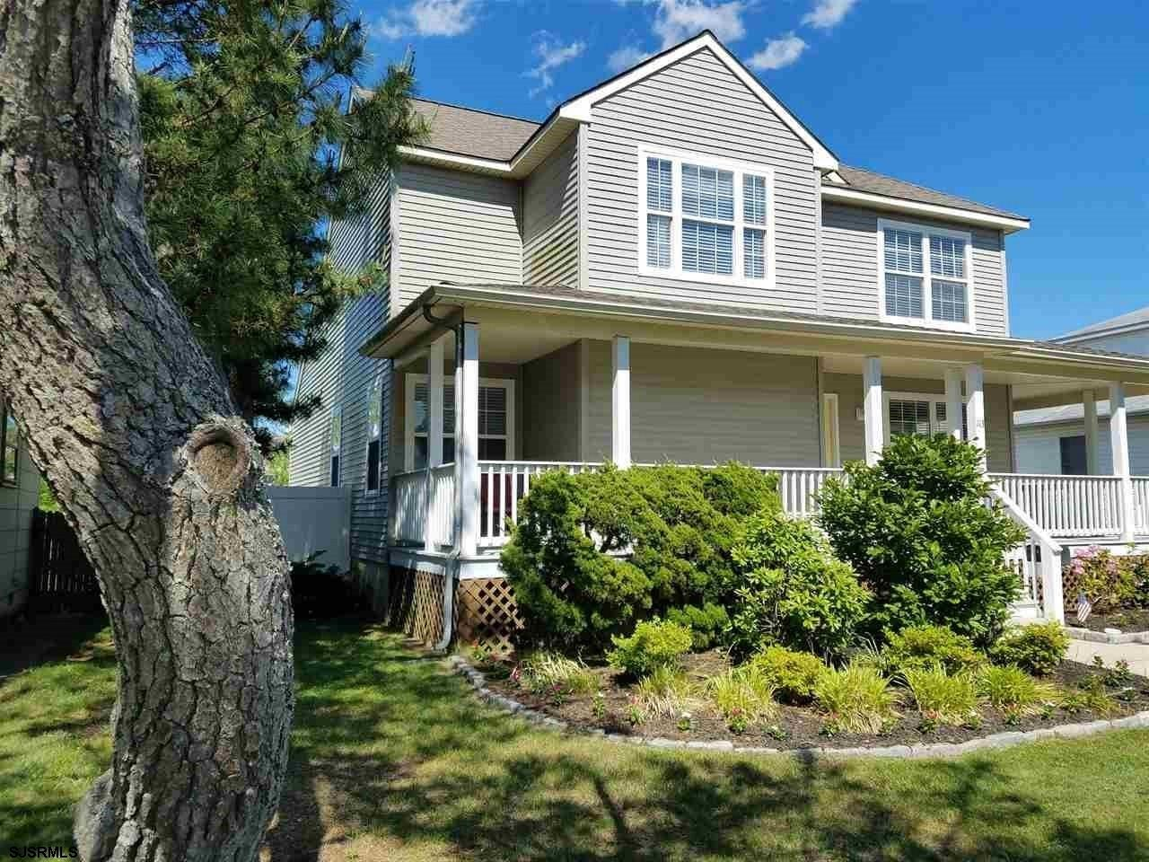 2 Story Contemporary Home In Brigantine's sought after A-Zone neighborhood! Only 2 short blocks to t