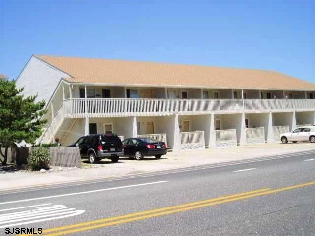 Large 2nd Floor 1 Bedroom 1 Bath Condo with Ocean Views.  Directly across the Street from the Ocean.