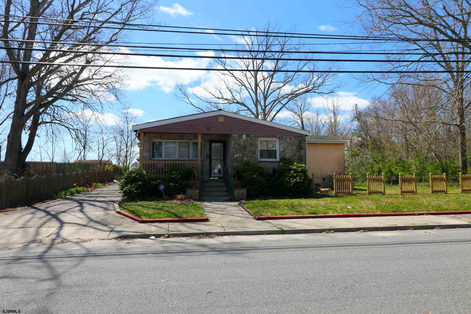 Wonderful 3 BR, 3/1.5 BA in Pleasantville on HUGE piece of property. Enjoy an expansive yard in a qu