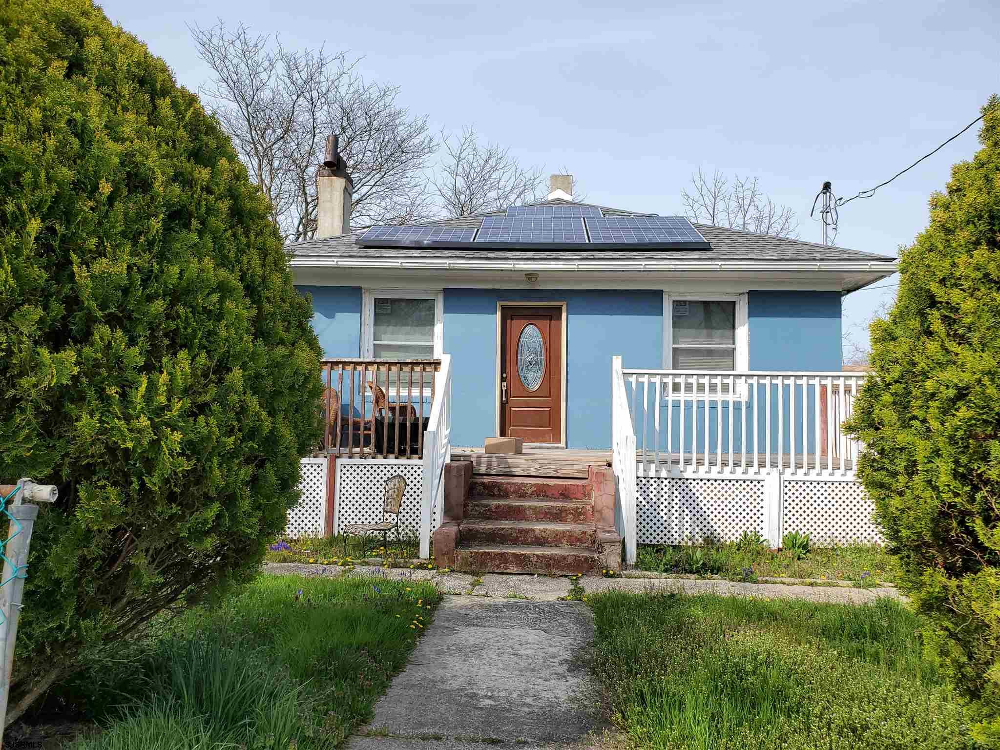 THIS RANCH HAS 2BD, POSSIBLE THREE, 2BATHS,  GAS HEAT, CENTRAL AIR, SOLAR PANELS, POSSIBLE IN-LAW SU