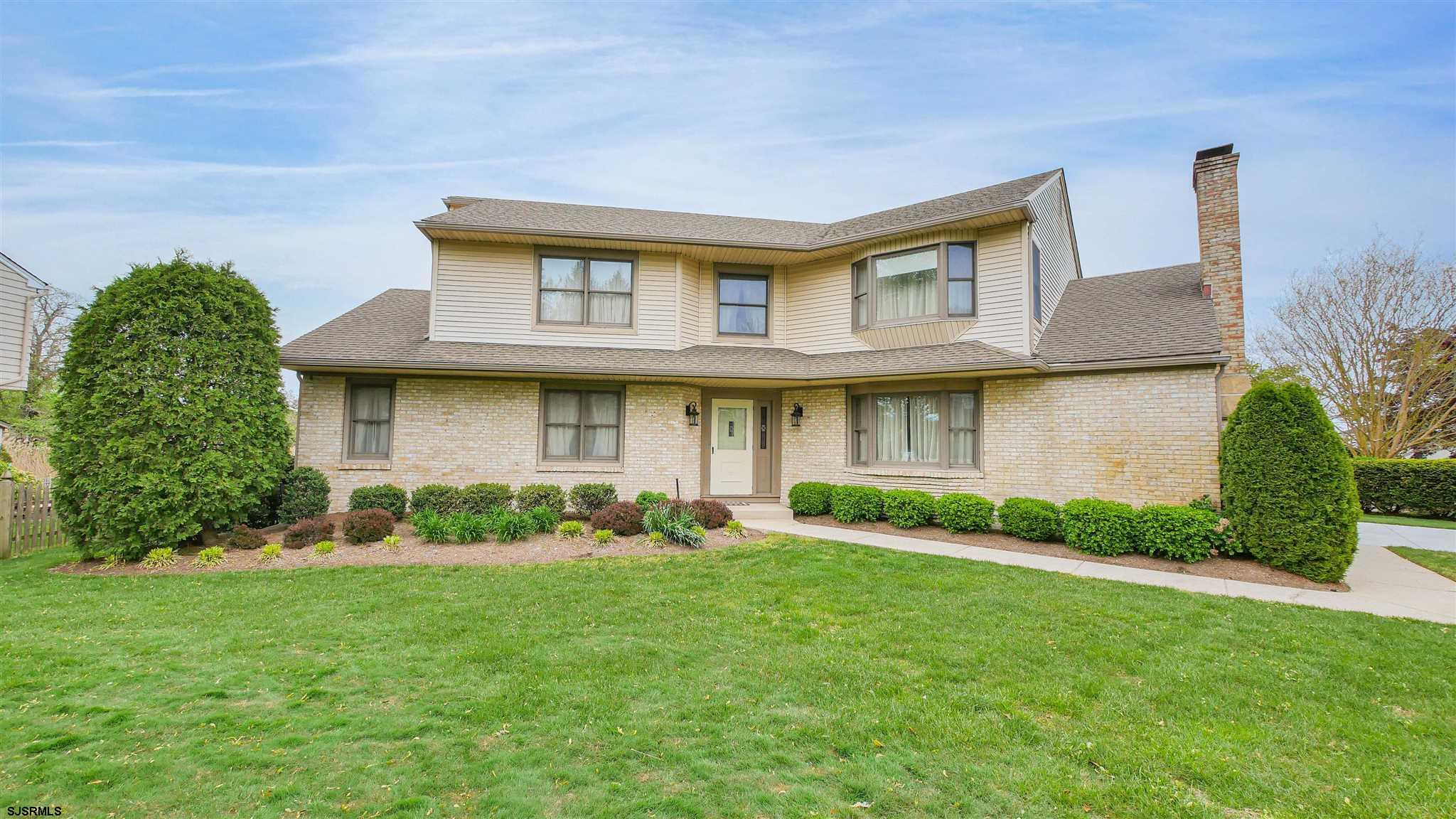Sought after Linwood location! Stately, brick front home, custom built for original owners at the end of the quiet cul de sac on oversized lot. Well appointed layout with spacious rooms, great for entertaining, home office and waiting for your personal touch! Large eat in kitchen with sliders to back deck overlooking the meadows and shore skyline. Family room with brick walled, wood burning, fireplace for cozy nights. Formal living and dining room that flow nicely into kitchen for holiday celebrations. 3 Large bedrooms with Master suite and master bath. Mudroom and 2 car attached garage. Newer HVAC, roof replaced appx.10yrs. ago Don't miss this opportunity!
