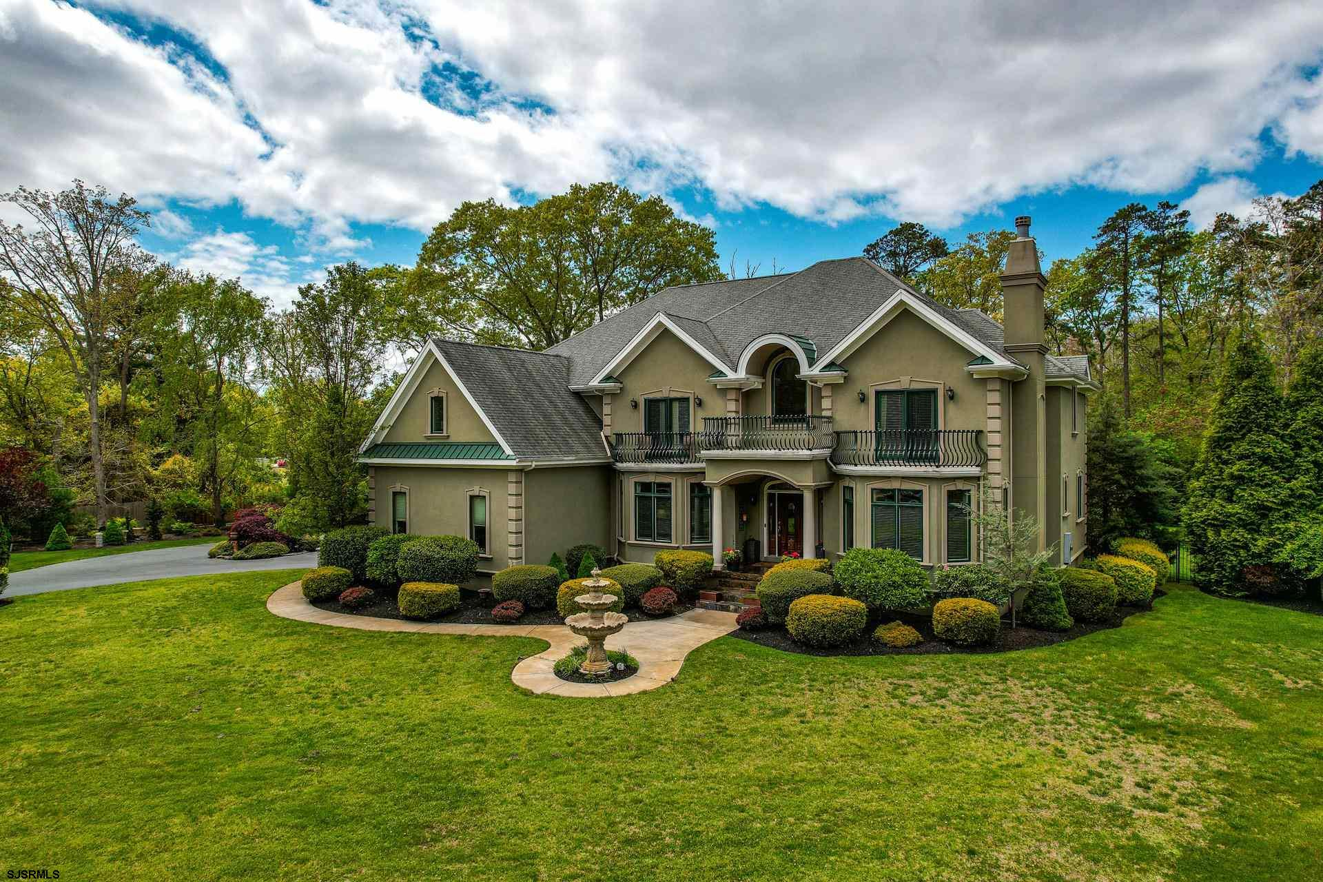 Luxury Galloway European Estate.  Custom Built Home Set On Approx 5 Private Acres.  Mediterranean Ar
