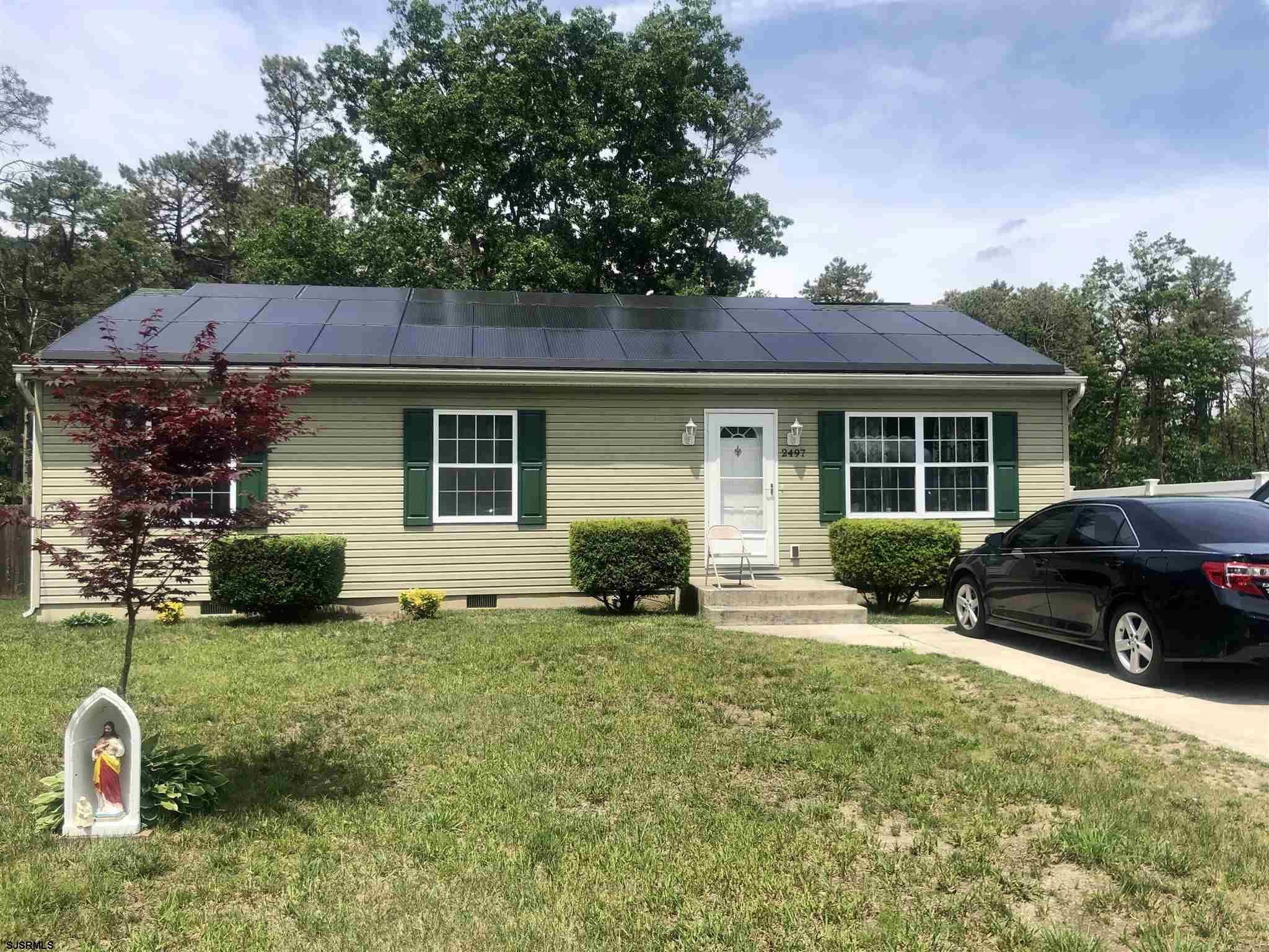 Lovely well maintained ranch! This home features 3 bedrooms and two full bathrooms. Large master suite. Huge backyard with shed. Solar panels meaning no high electric bills and sometimes even credit back! Don't miss this one!