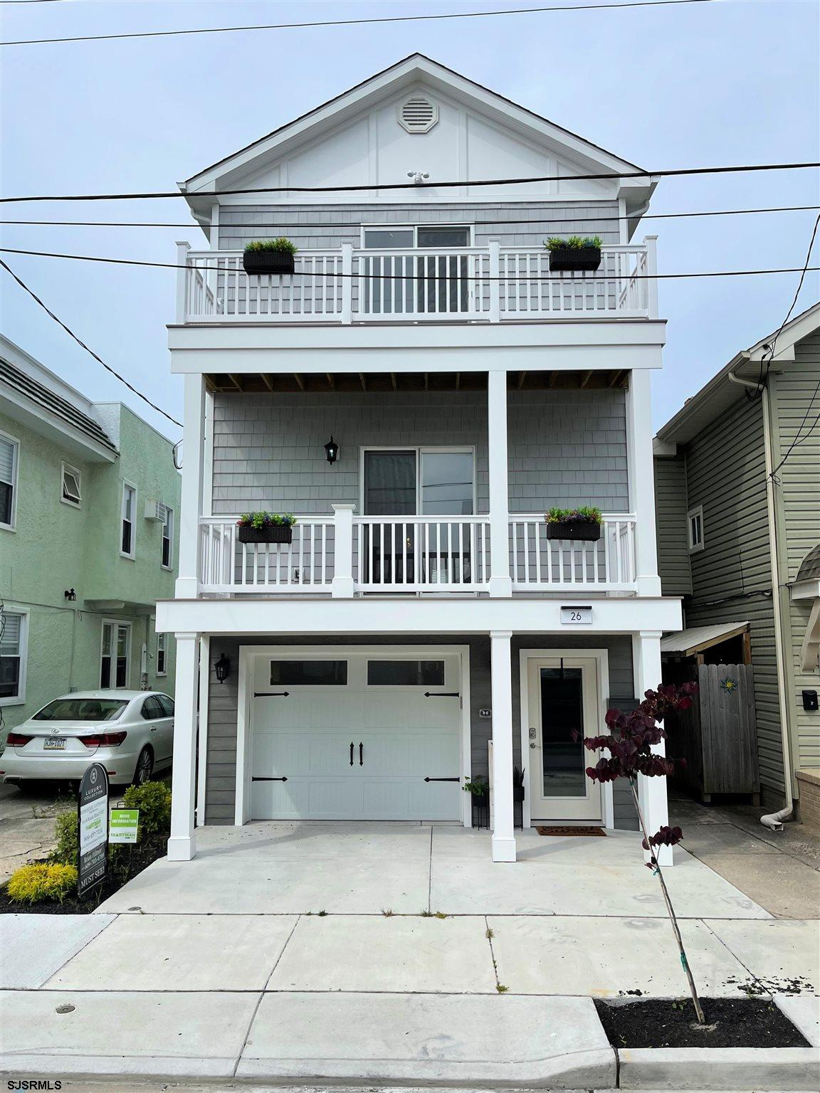 FIRST BLOCK NORTH NEW CONSTRUCTION!! Situated just two blocks from Margate with 4 bedrooms, 4 full b