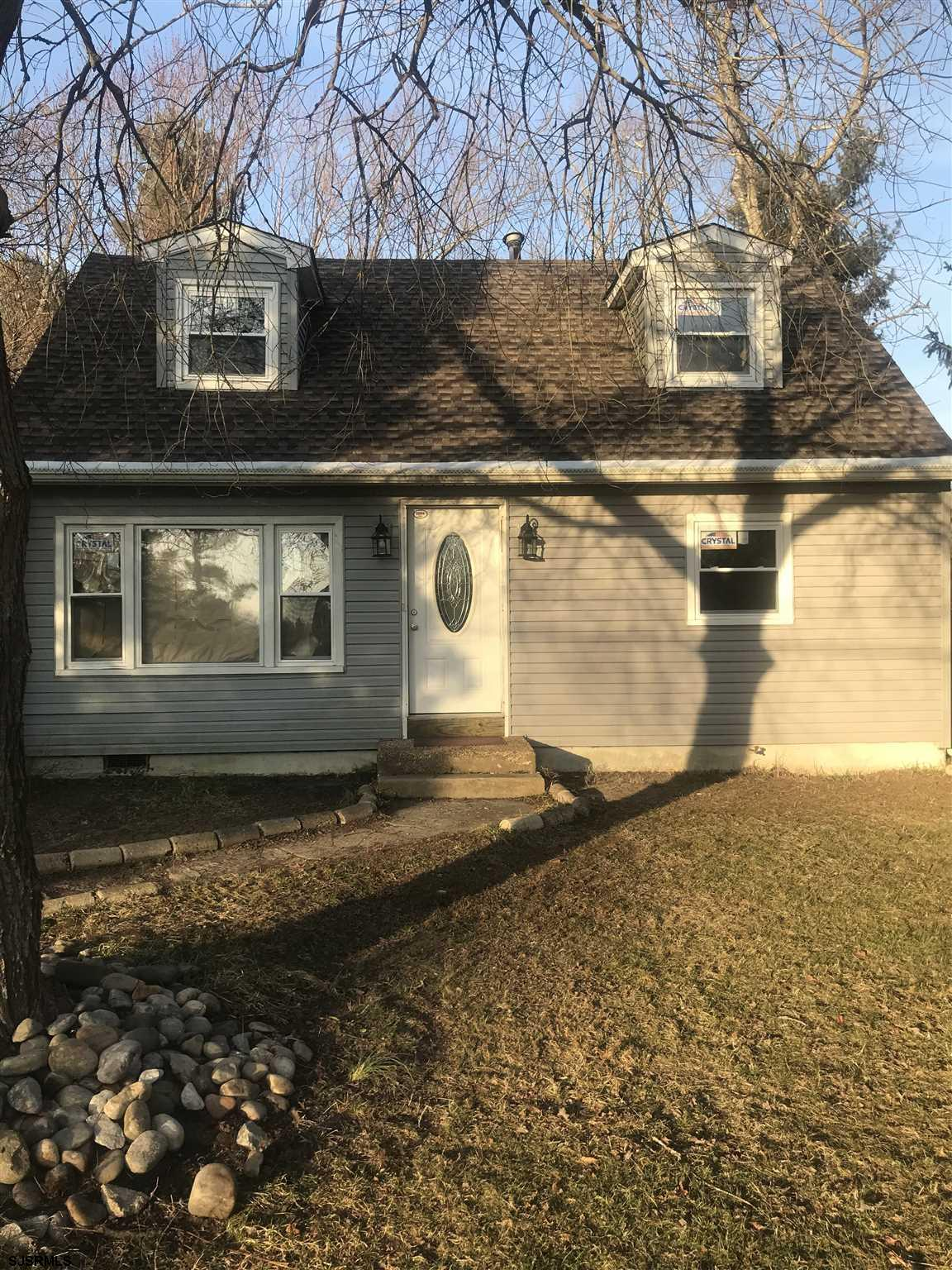 An updated two story single family home in Mullica Township. Master bedroom on first floor. All appl