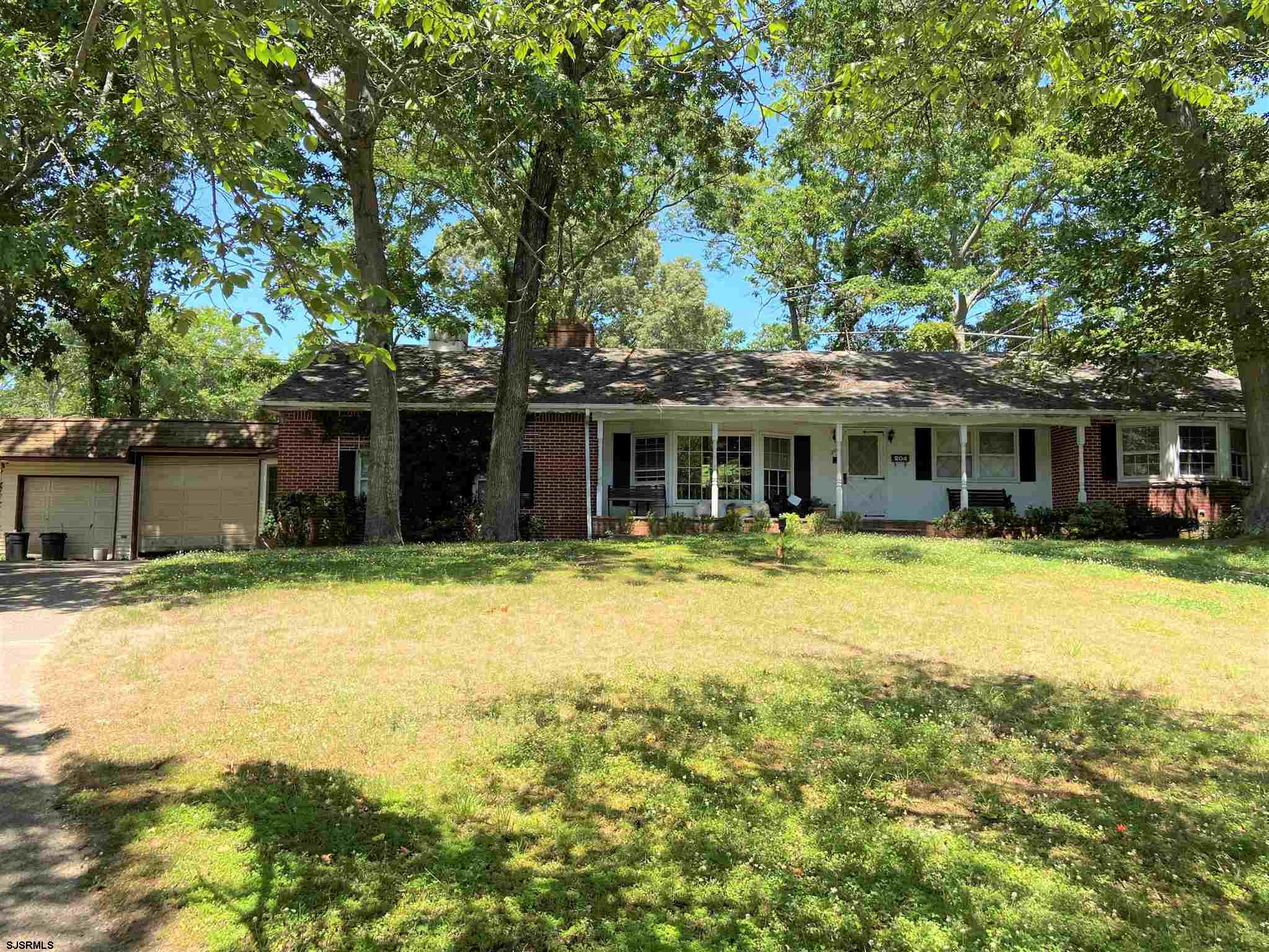"""Great location on a cul de sac. With an open mind and a vision this 3 BD 1.5 BA rancher has great potential. There are original hardwood floors throughout in good condition. There is a sunken living room, dining room, kitchen and a family room with a brick fireplace. There is also a large screened in porch off the family room for addl living space. Added bonus is the separate entrance (in law quarters) which consists of a living room, kitchen, 1 BD and a FULL BA upstairs. Outside features an oversized lot and a 2 car detached garage. This home is completely """"AS IS"""",  the buyer will be responsible for any and all inspections & certifications. Seller will need a minimum of 60 to 90 days to vacate the premises. This may be negotiable though."""