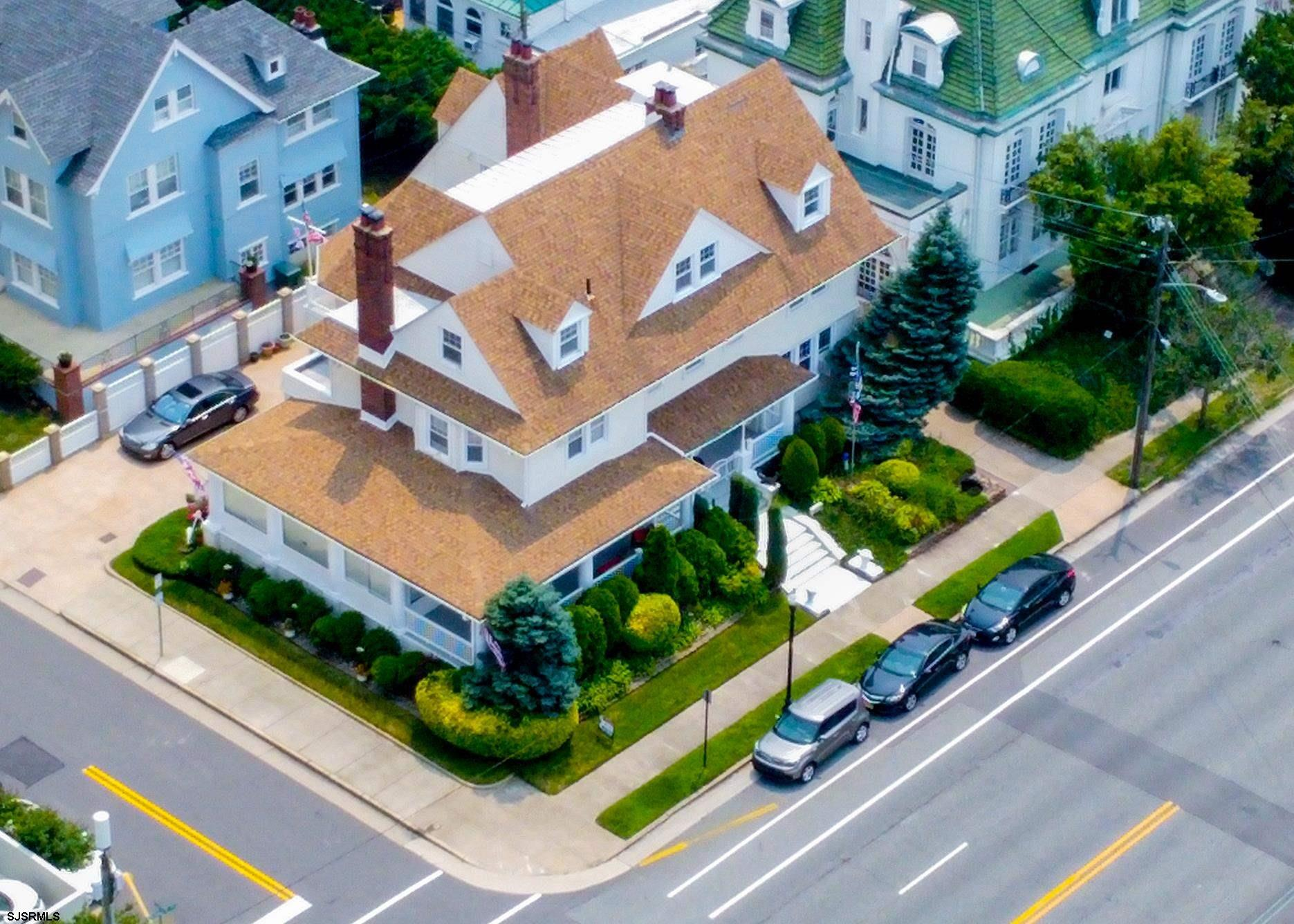 Jersey Shore Living! This Beach Block Historic Chelsea Section Home with Ocean Views from every leve