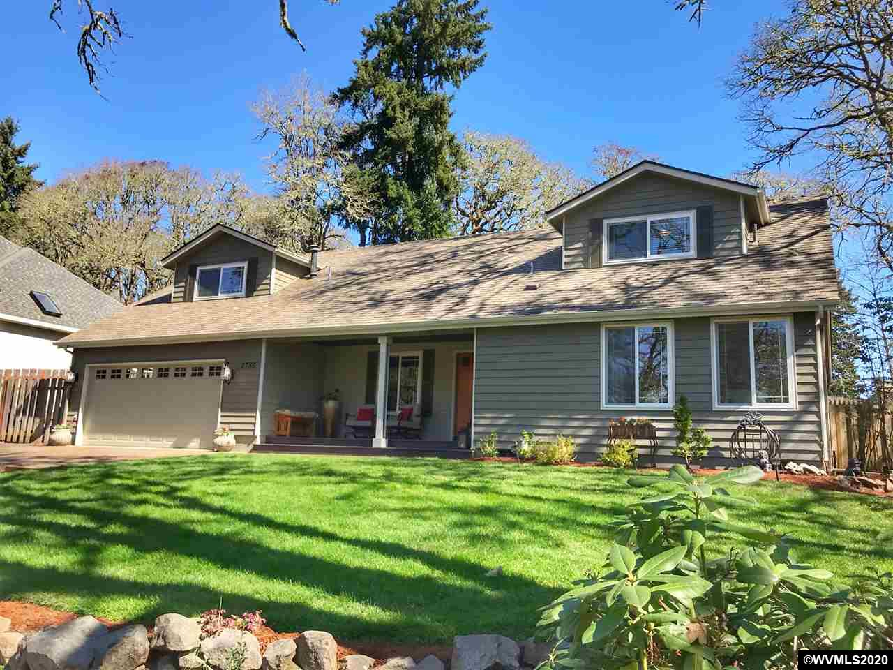 Incredible home in desired established SW Corvallis CC neighborhood awaits you! This is a must visit. Space for all with an easy flow flrpln! 5 bdrms/4 baths and ample storage. You will appreciate the beauty throughout incl. granite counters, stainless steel appliances, tasteful master suite and more. Come and fall in love with the large sun room. There is a fmly room, liv rm and another bonus room upstairs as well as a sunroom, mud/laundry room, sauna, and a gorgeous fenced landscaped yard with patio.