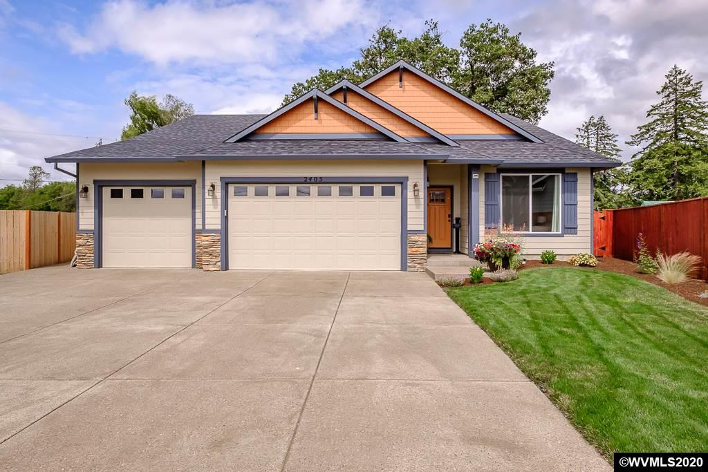 Almost new home with upgrades on a cul-de-sac. Granite counter tops,large open living, huge walk in closet in Master, soaker tub. Large drive waywith wrap around concrete around house. 3 car garage. Fully landscaped yard withUGS, perennials,drip system, large back patio and park like setting with roomfor shed. Large attic with drop down steps, lots of extra storage space.