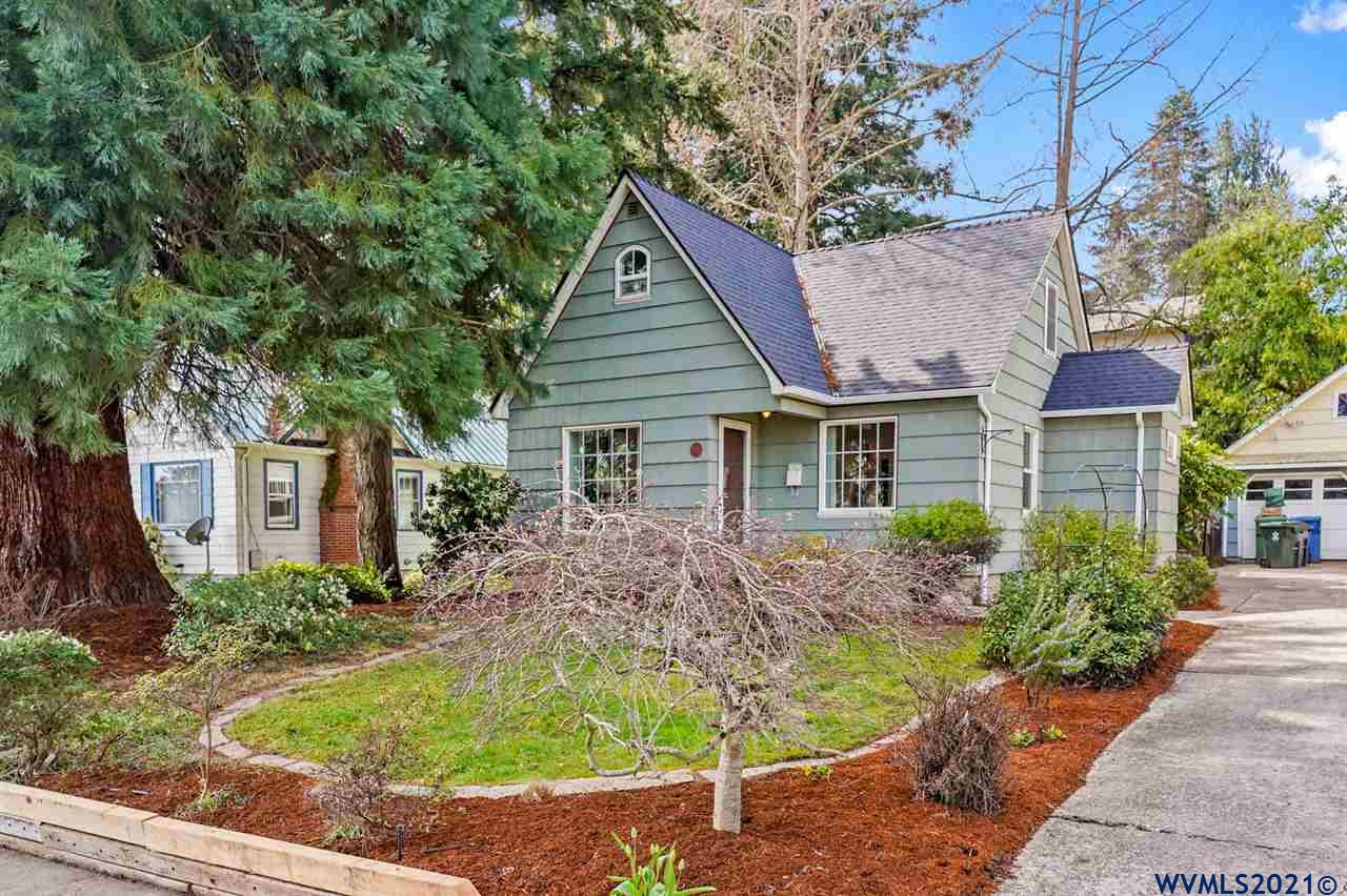 Accepted Offer with Contingencies. This well maintained 1940 cottage is a short block from Bush Park and has been tastefully updated the right way, maximizing modern function while retaining the original charm. Basement has been perimeter water-proofed and features a sump pump to keep it dry and comfortable.  New roof and gutters installed 2021.  Updated kitchen and bathrooms.  Basement features artists studio with sink and tons of possibilities.  Stunning back yard with generous covered porch. Check out the 3D tour and photos for floorplan.